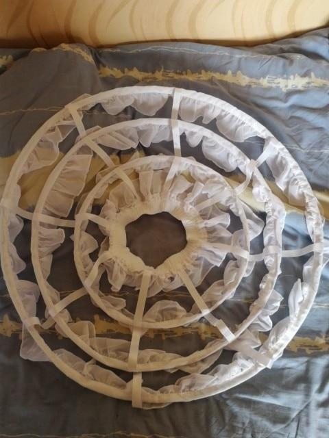 Купить с кэшбэком Lolita Short Petticoat Underskirt 45 CM Length Waist Adjust 3 Layers Hoop Ruffle A Line Woman Wedding Gift Casual Petticoat