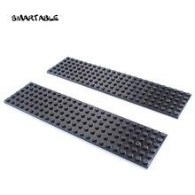 Smartable Baseplate 6x24 Building Blocks MOC Parts DIY Creative Toys For Kids Compatible 3026 City Plate Toys set 15pcs/lot