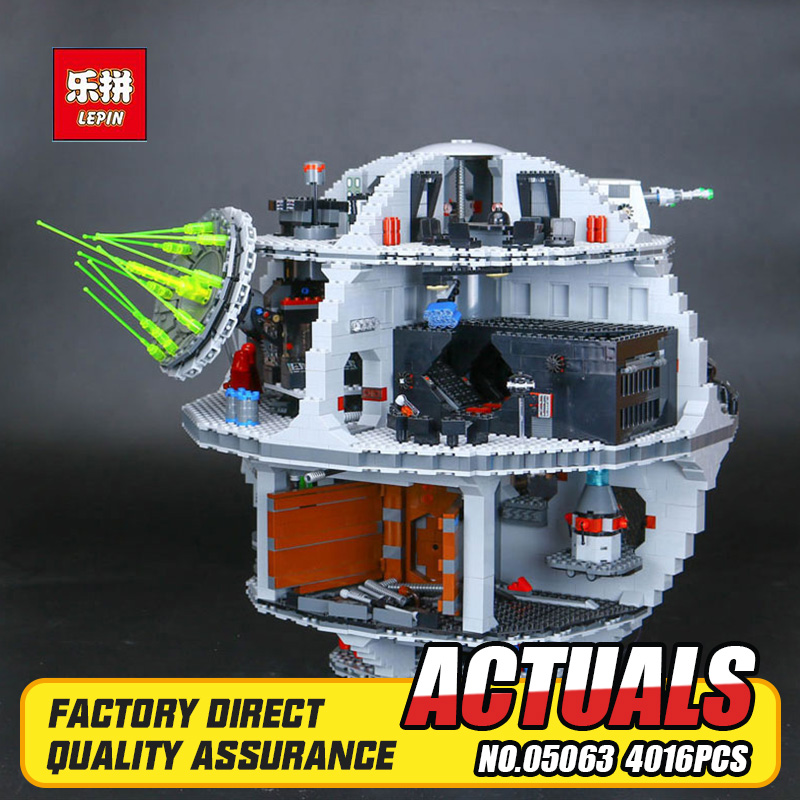 2017 New 4016Pcs Lepin 05063 Genuine Star War UCS Death Star Rogue One Set Building Blocks Bricks Educational Toys 79159 DIY boy купить