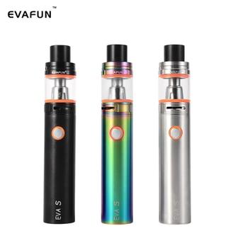 цена на EVA S Starter Kit Electronic Cigarette 2400mAh Battery 5ml Top Fill V8 Big Baby Tank Atomizer Vape Pen Kit Stick V8 Vaporizer