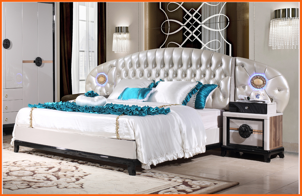 Modern Bedroom Set Sale Y G Furniture 2017 High Quality Discount King Size Bed Night Stand