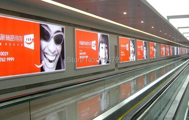 wall backlit poster frame outdoor led aluminium extrusion signs large advertising light box display board ultra