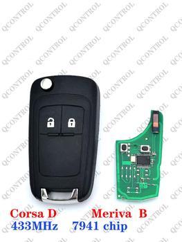 Mando a distancia QCONTROL G4 -AM433TX para opel /Vauxhall Corsa d suit (2007 +,Meriva 2010 + con chip pcf7941