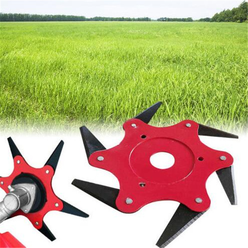 6 Blade Grass Trimmer Head Weed Brush Cutting Head Easy Cutting Garden Power Tool Accessories