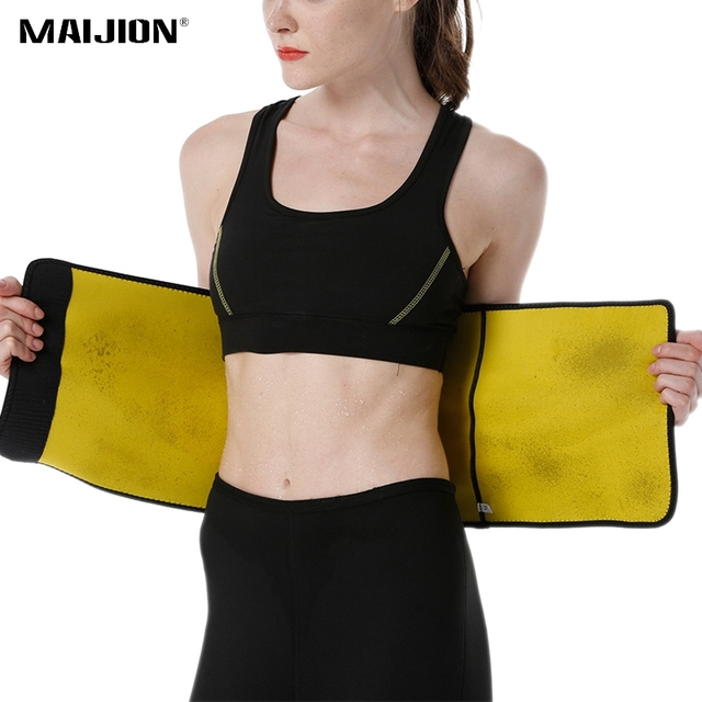 MAIJION Women&Men Adjustable Sport Running Vest With Pocket ,Hot Sweat Yoga Body Shapers Fat Burning Slimming Belt Waist Support