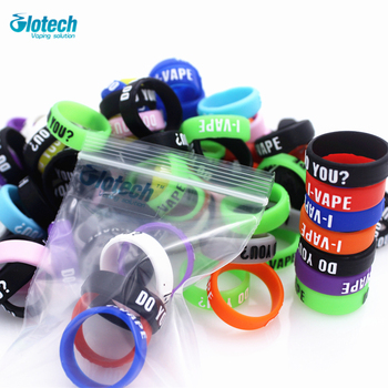 Glotech 50pcs raised silicone rubber band vape ring Non Slip rubber for mechanical mods decorative and protection vape ecig mod