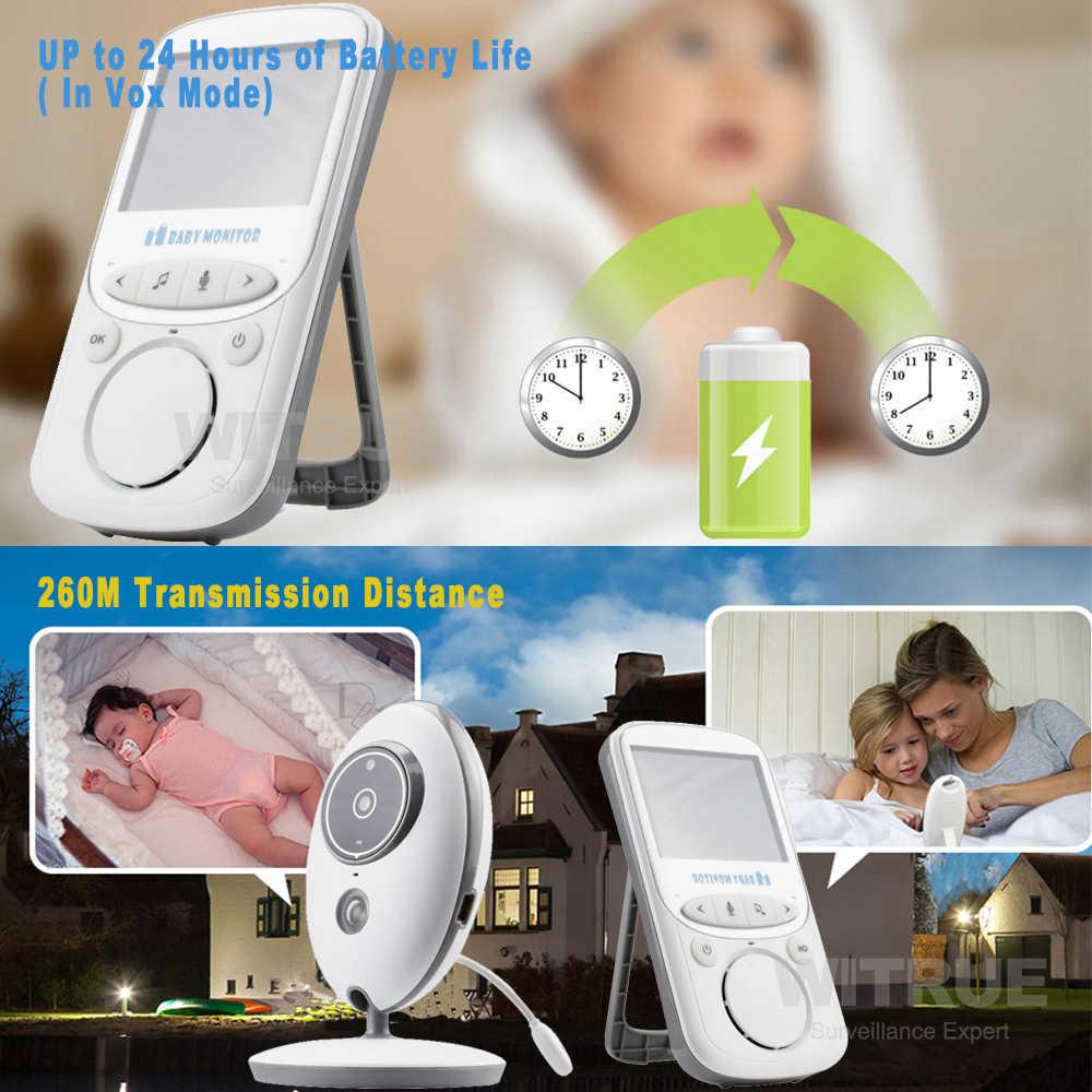ベビーモニター VB605 ワイヤレス 2.4 インチ液晶ラジオ乳母音楽インターホン IR 24 h ポータブルベビーカメラベビートランシーバーベビーシッター