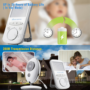 Image 4 - Wireless Baby Monitor VB605 Radio Video Nanny Babyfoon 2.4 Inch Monitor bebe with Camera IR Night Vision baby sitter babymonitor