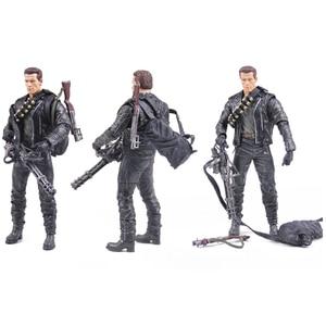 Image 3 - Classic Movie Arnold Schwarzenegger Doll NECA The Terminator 2 T800 Cyberdyne Showdown Model PVC Action Figure Toy 18cm
