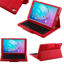 For Huawei MediaPad 10.0 M2-A01W / M2-A01L Magnetically Detachable ABS Bluetooth Keyboard Portfolio PU Leather Case Cover