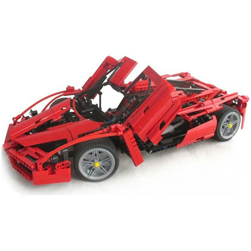 MOC BELA Racers Technic ENZO 1:10 Supercar Sports Car Enzo Model Building Kits Bricks Toys Compatible Legoing Creator Block Gift lepin 21004 ferrarie f40 sports car model legoing building blocks kits bricks toys compatible with 10248