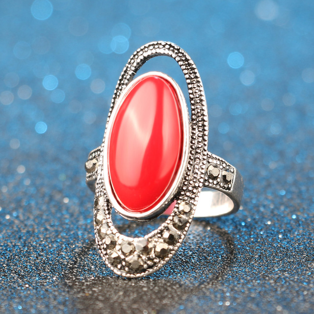 Silver Plated Retro Ring