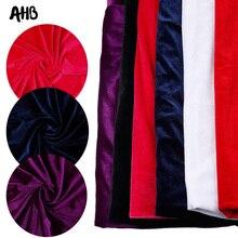 AHB 45*150cm Velvet Fabric Cloth Gorgeous Silk for Dress Clothes Luxury Soft Purple Home Textile Curtain