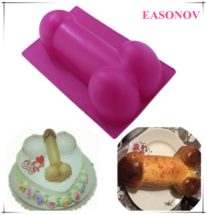 New Silicone DIY Cutters Penis Gag Gifts Erotic Fun Funny Adult Mousse Cookie Cake Decorating Soap Maker Moulds Baking Mold