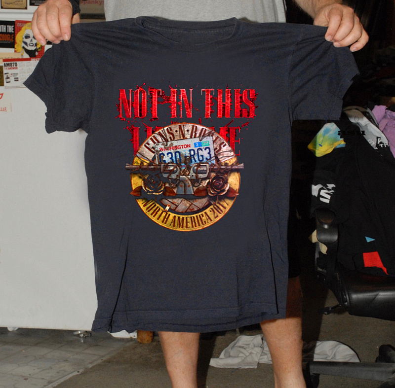 Online Shirt Store MenS New Style Crew Neck Short-Sleeve Guns N Roses Not In This Tee Shirt