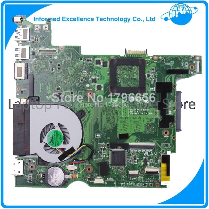 Wholesale For Asus 1225B Laptop Motherboard Main Board with fan well tested work perfect free shipping 1225b mainboard rev 2 1 for asus 1225 1225b laptop motherboard main board 100