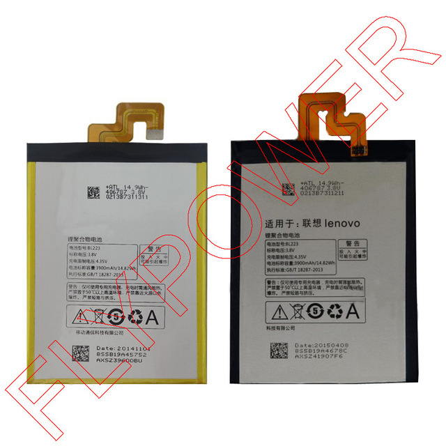 100% warranty 3900mAh BL223 Li-Polymer Battery Pack Replacement For Lenovo VIBE Z2 Pro K920 K7 By Free Shipping