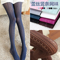 Free shipping Fashion Sexy Pattern Jacquard Stockings Pantyhose for girls and women Tights Hollow out tights