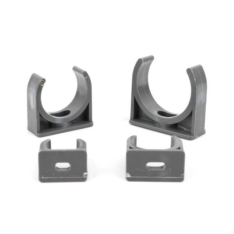 Abrazaderas de PVC para tubos de 20 mm W Sourcing Map bandejas de televisi/ón de 0,79 pulgadas 20 unidades soporte para manguera de Pex Tubing apto para 20 mm tornillos de montaje blancos