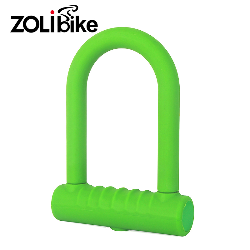 где купить ZOLibike U-Type Silicone Cyling Lock Ride Bike Lock Bicycle Anti-Theft Rubber Locks Bike Lock Bike Accessories Bike Equipment дешево
