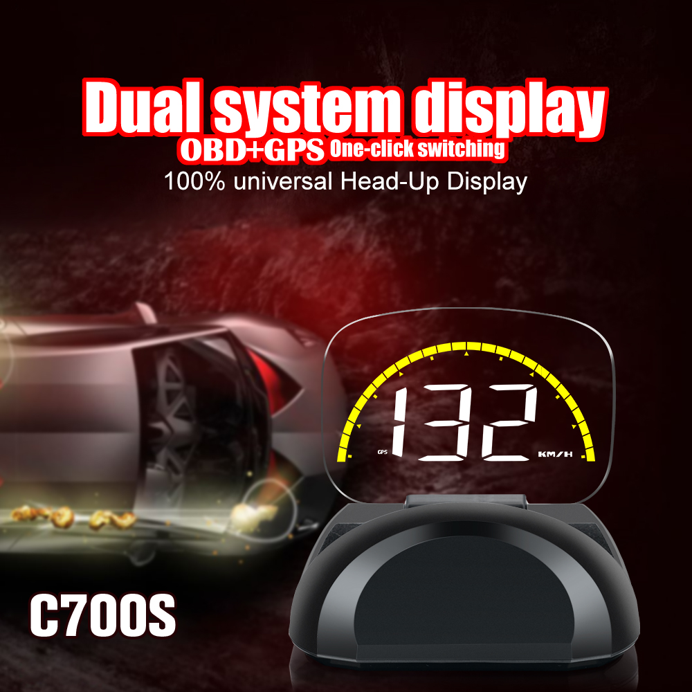 Image 2 - C700S &C700 OBD Car GPS HUD Head Up Display With Mirror Digital Projection Car Overspeed Alarm Free Shipping-in Head-up Display from Automobiles & Motorcycles