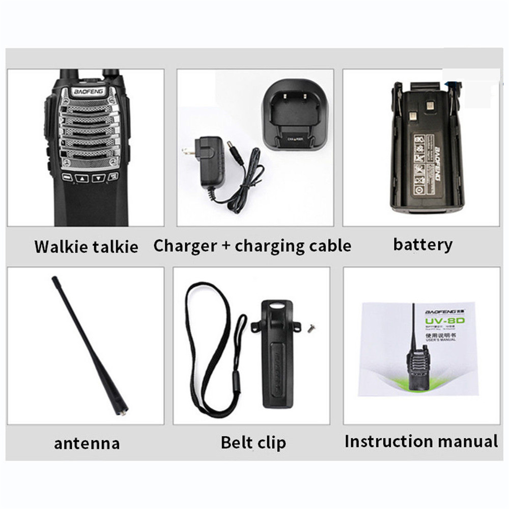 Image 5 - Baofeng General UV 8D 1 Walkie talkie 8W High Power Dual Launch Key 5 15KM Communication Distance Multifunction Safety Intercom-in Walkie Talkie from Cellphones & Telecommunications