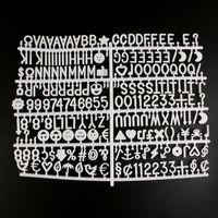 Witte Plastic Brief Board Letters Set 230 Nummers Speciale Tekens Woorden Voor Vilt Veranderlijk Bericht Borden & Letterboards