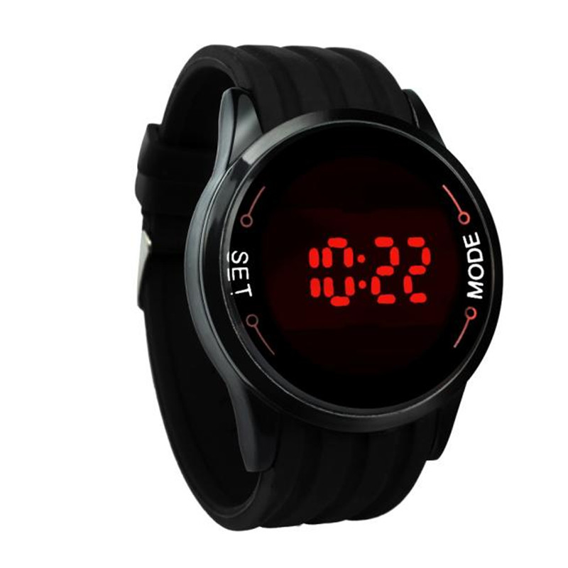 Aimecor 2018 New Fashion Waterproof Mens Digital Casual Watch LED Touch Screen Date Silicone Sports Military Wrist Black Watch new fashion silica gel electronic digital touch screen led watch