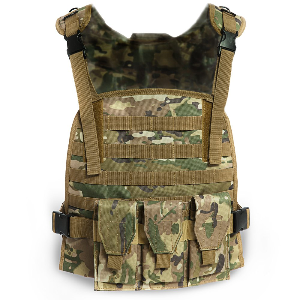 Outdoor Hunting Fishing Hiking Vest Tactical Military Swat Field Battle Airsoft Molle Assault Plate Carrier Pockets