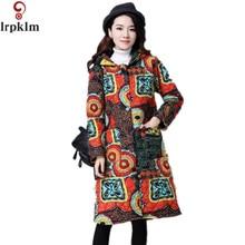 2017 New Winter Parka Jacket Women Winter Coat Long Cotton Padded Warm Jackets Coat High Quality With Hood Parkas LZ142