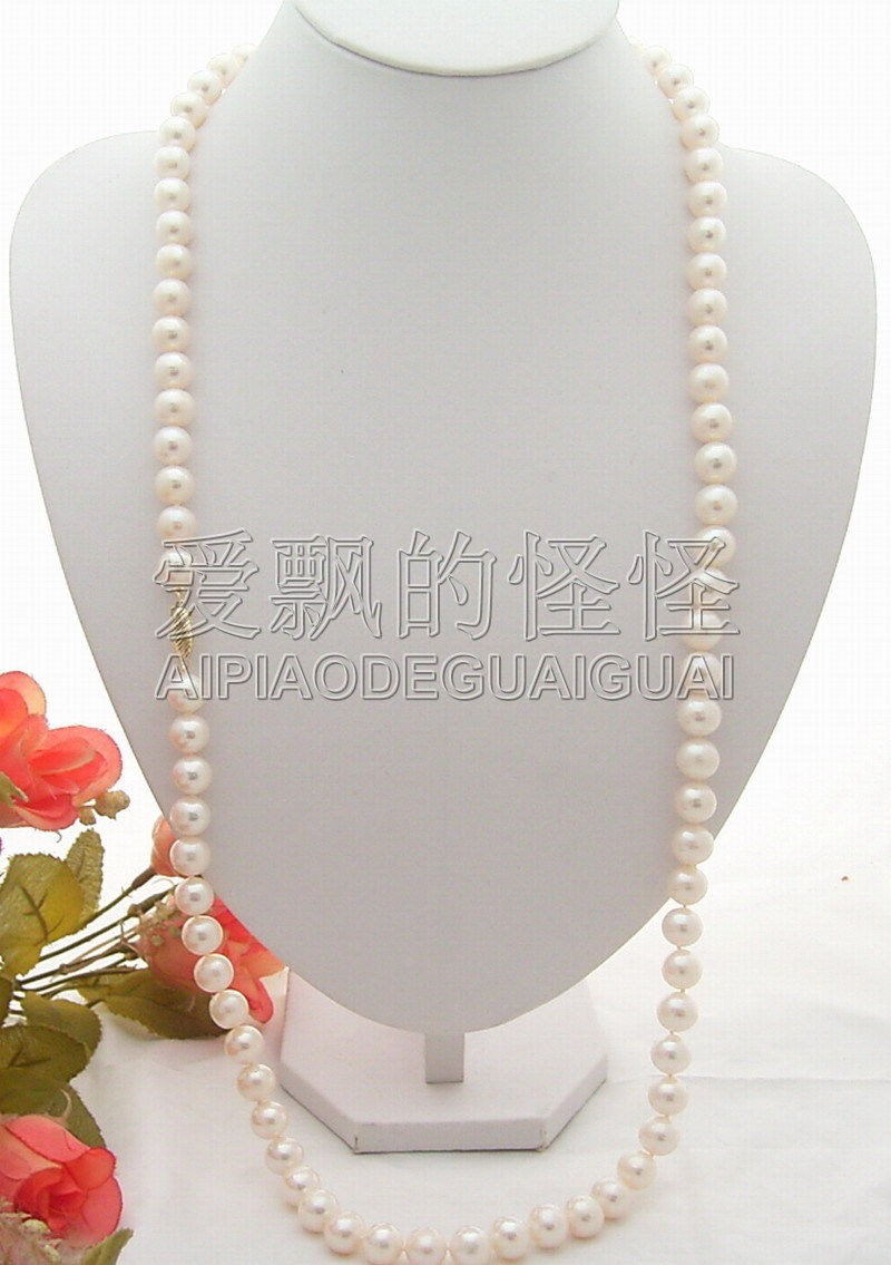 34'' 11mm AA White Pearl Necklace dla64 64cc cnc processed inline gasoline engine petrol engine for fixed wing rc airplane w twin igniton