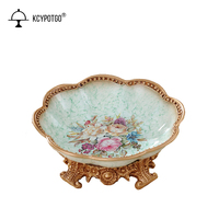 European snack plate dried fruit plate ceramic living room decorations home coffee table candy dish ornaments home