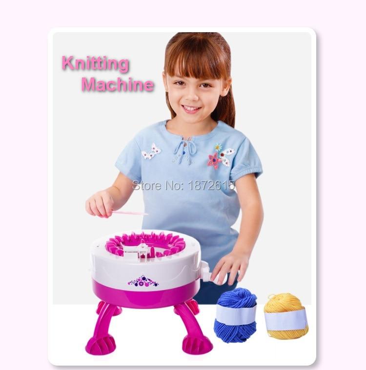 Tissage métier à tisser rêves enfants fille bricolage tricot laine machine woodlens pingouin éducatif apprendre jouets cadeau enfant Playset manivelle