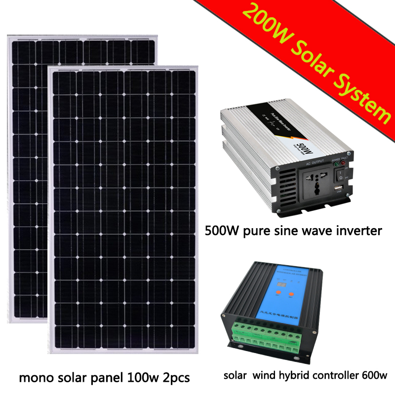 500w Home Solar Power Off Grid System Stand Alone Solar
