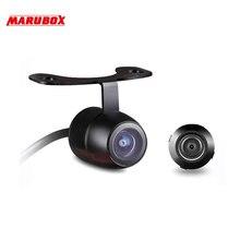 Автомобильная универсальная компактная камера заднего/переднего обзора Marubox M187 Угол обзора камеры 170° CMOS матрица 0,1 Lux функция отключения парковочных линий и изменения заднего вида на передний