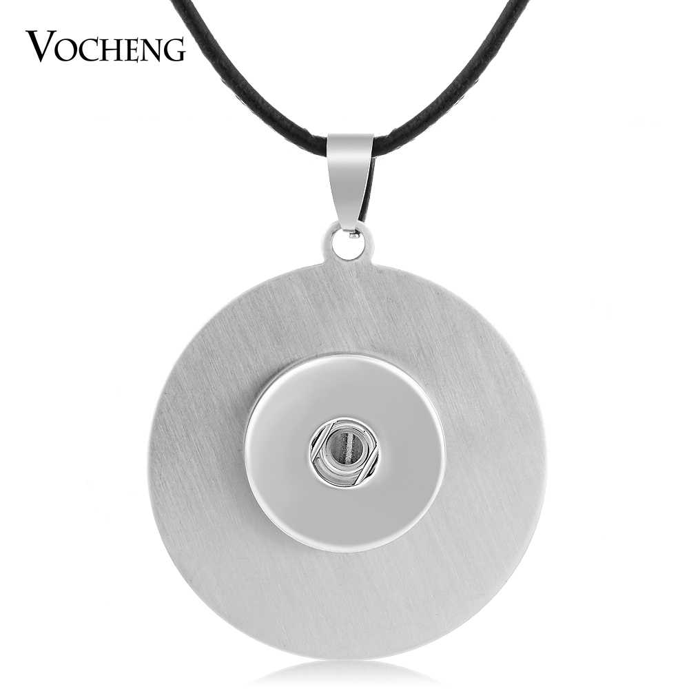 10PCS/Lot Round Stainless Steel 18mm Vocheng Ginger Snap Button Jewelry Pendants Necklace NN-038*10