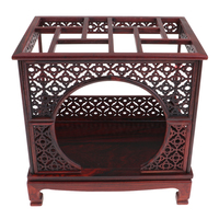 1/6 Scale Wooden Chinese Moon Gate Bed for Hot Toys Dolls House Furniture Model Collections