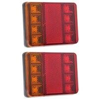 Hotsale 2Pcs 8 LEDS Car Truck Rear Tail Light Warning Lights Rear Lamps Waterproof Tailights Rear
