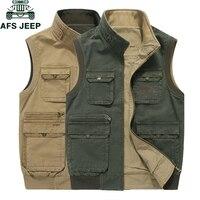 AFS JEEP бренд мужской жилет без рукавов куртки мужские в стиле милитари мужские Veats Casaco masculino повседневные многокарманные фотографы жилет 8XL