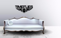 Time Flies quote wall sticker quote decal wall art decor