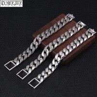 100% 925 Серебряный браслет цепочка Винтаж стерлингов мужской браслет чистого серебра хорошее браслет, приносящий удачу