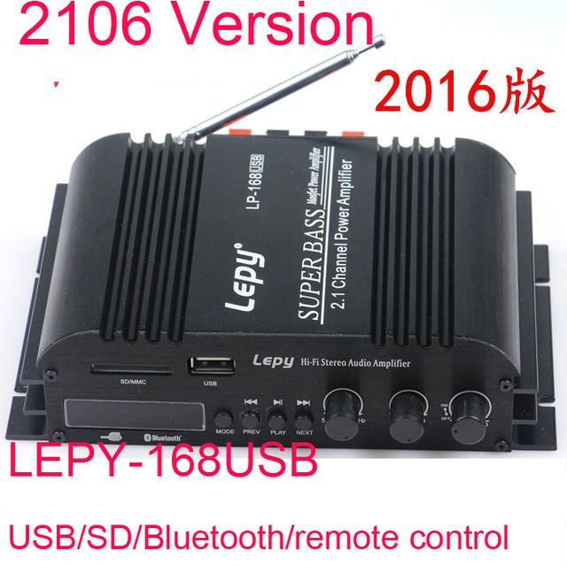40Wx2 LP-168HA HiFi Digital Mini Amplificadores De Áudio + 68 W 2.1 canais de alta potência ceia bass treble controle TF Bluetooth carro para casa