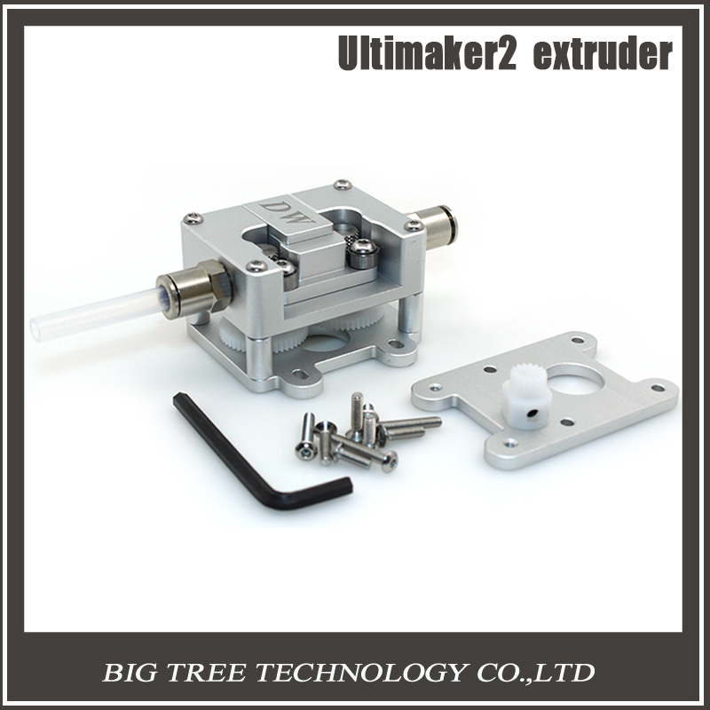 ФОТО New version UM2 + 3D printer Ultimaker2 + remote upgrade section Full Metal Double wheel reducer extruder 1.75/3.0mm 3D0122
