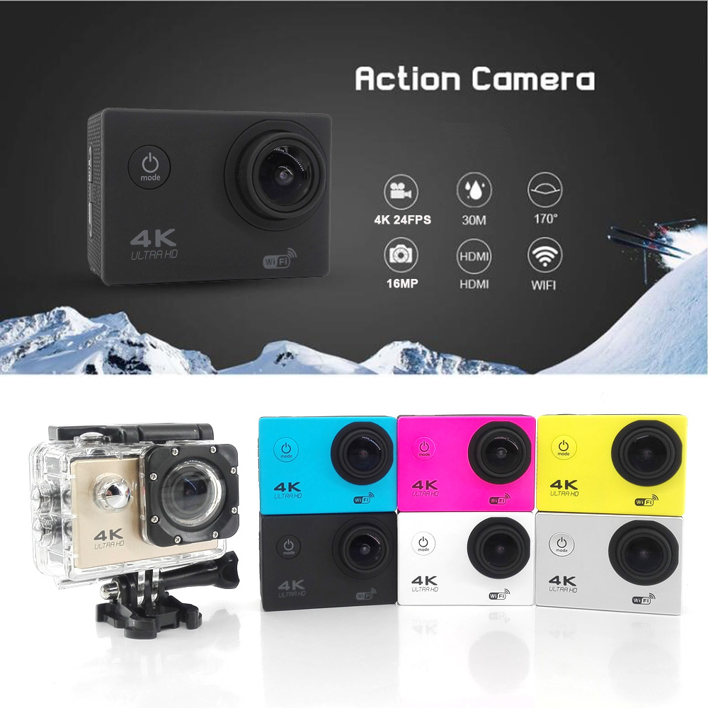 ФОТО EASTTOWEST Action Camera 4K 24fps 1080P 60fps 16MP Sports Camera 170 Degree Wide Lens Wifi 30m Waterproof Diving