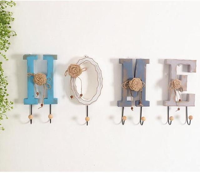 Modern Home Decoration American Style Creative Wall Hooks Letters ...