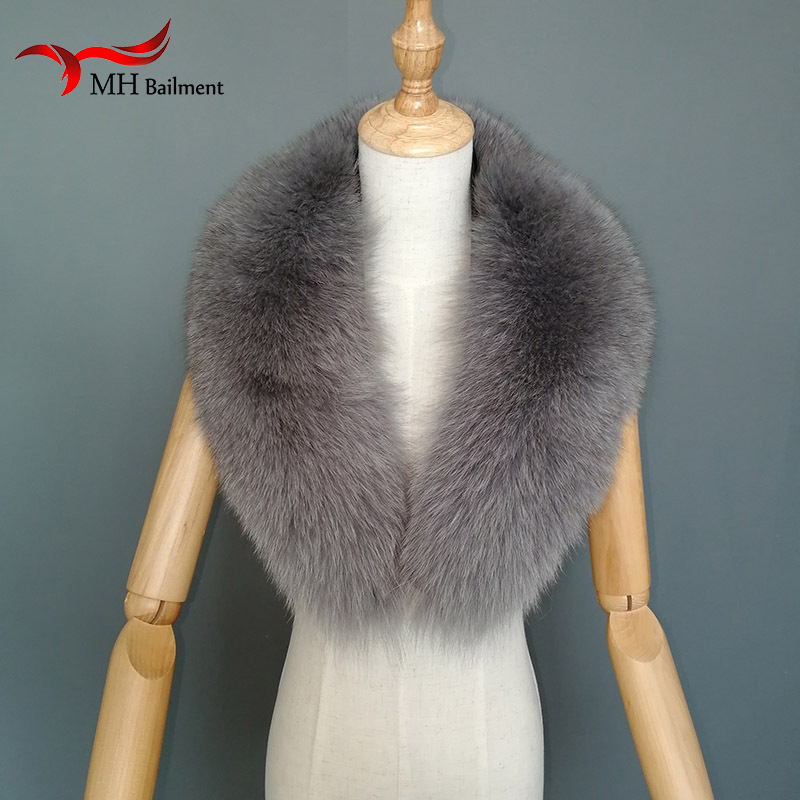 100% Full High Density Imported Fox Fur Scarf Magnet Wild Female Autumn Winter Collar Leather To Keep Warm Scarf Hat Gloves Set Apparel Accessories