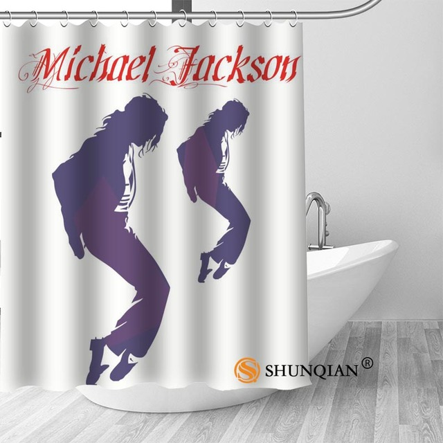 4 Michael jackson shower curtain washable thickened 5c64f7a44eda9