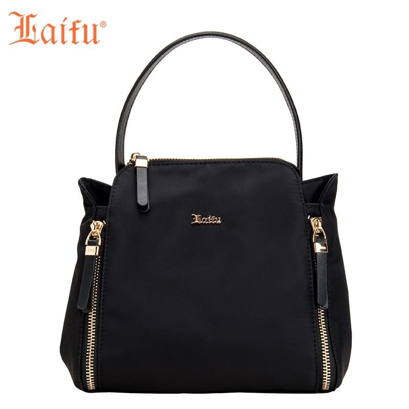 Laifu 2018 New Fashion Women Handbag Casual Crossbody Bag Nylon Waterproof Lightweight Durable, Black, Purple, Blue