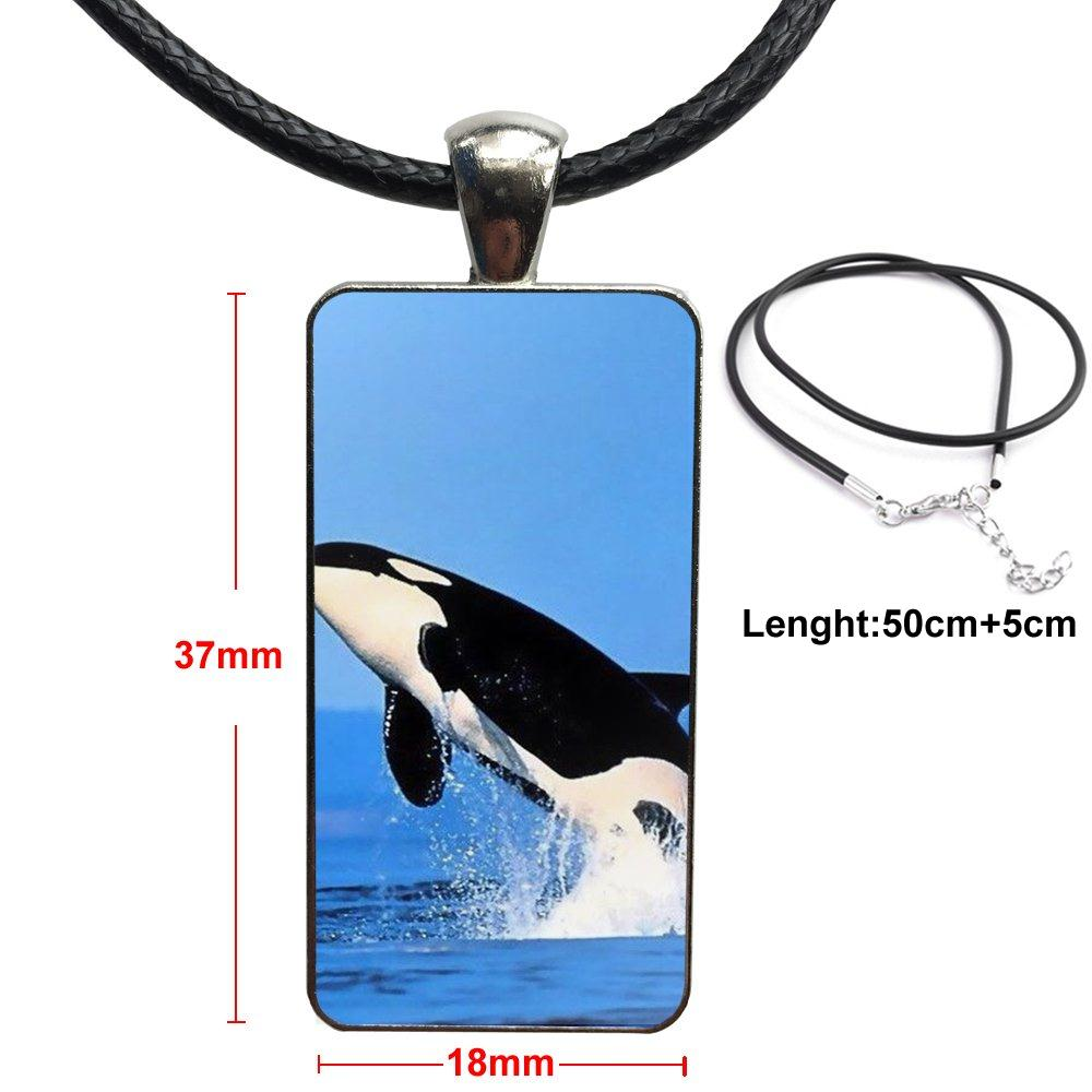 Military Necklace Orca Whale Custom Zinc Alloy Pendant Necklace Dog Tags