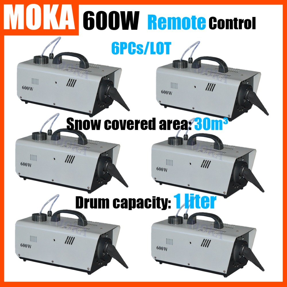 6 Pcs/lot 600W Snow Maker Snow Machine christmas projector Remote Control Snowflake Maker Stage Effect DJ machine